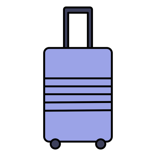 Simple color stroke suitcase