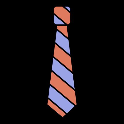 Simple geometric color stroke tie