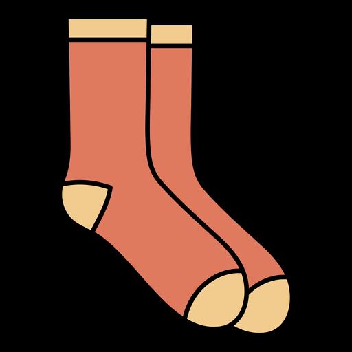 Simple geometric color stroke socks