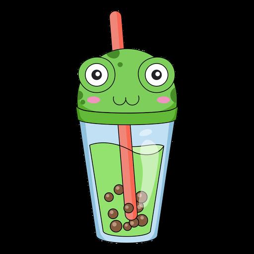Bubble tea frog cap color stroke