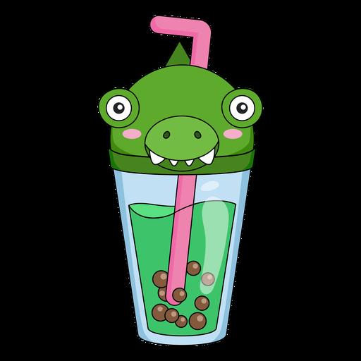 Bubble tea alligator cap color stroke