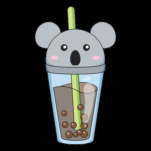 Bubble tea koala cap color stroke