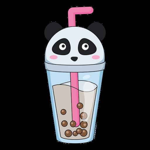 Bubble tea panda cap color stroke