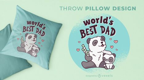 Father's day throw pillow design