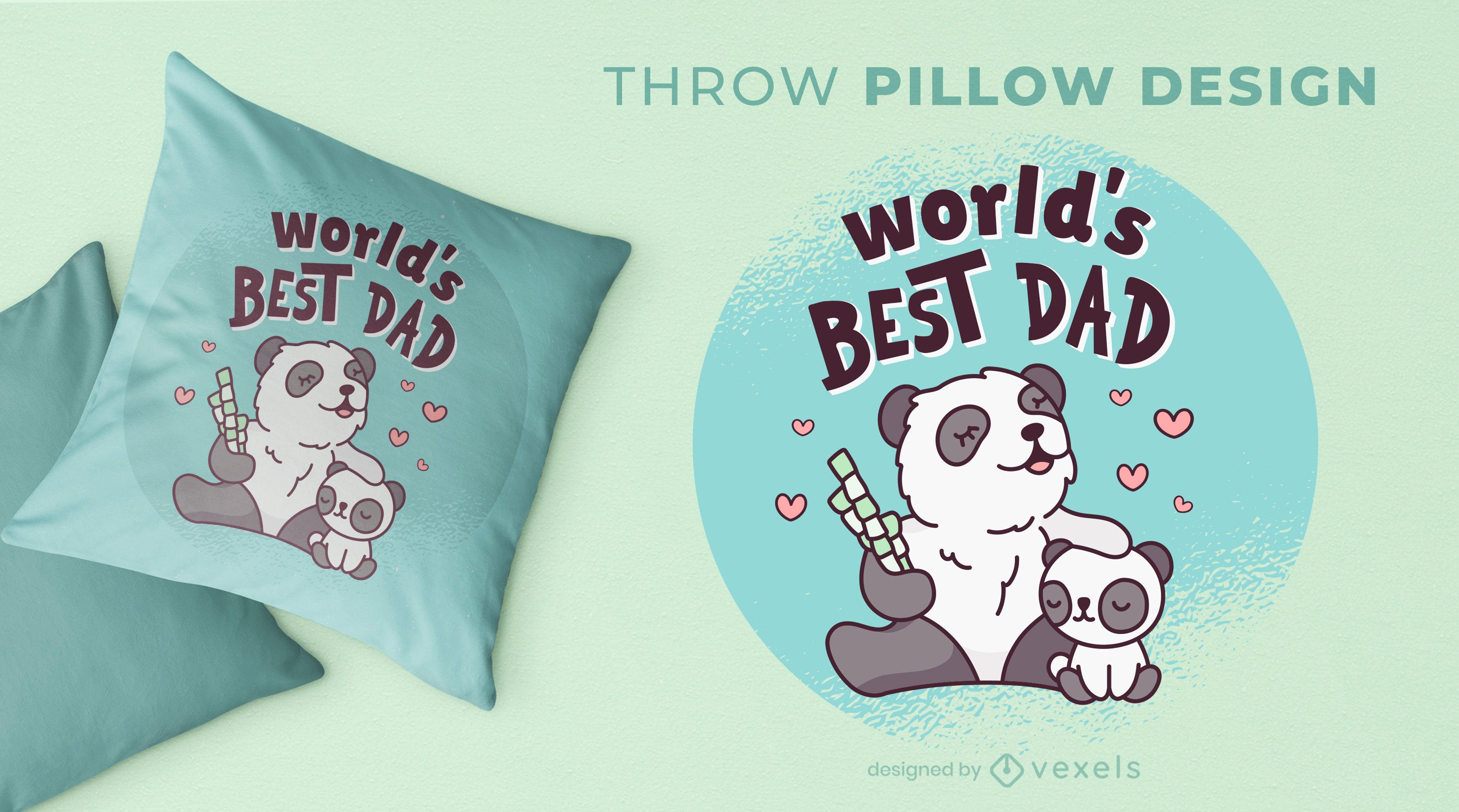 Diseño de almohada para el día del padre.