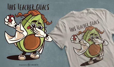 Dabbing avocado teacher t-shirt design