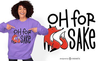 Design de t-shirt para o bem da raposa