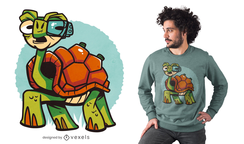 Cyborg Turtle T-Shirt Design