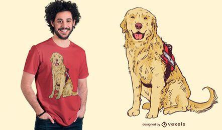 Diseño de camiseta de perro de servicio.