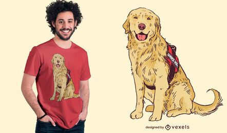 Service Hund T-Shirt Design