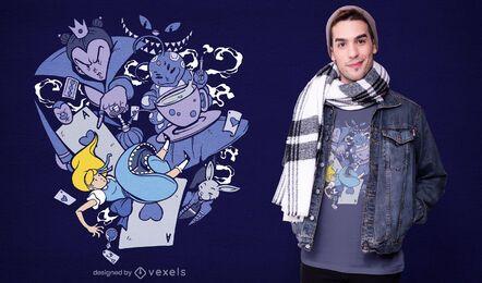 Alice in wonderland t-shirt design