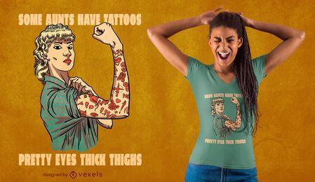 Tattoos rosie the riveter t-shirt design