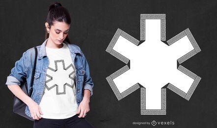 Diseño de camiseta estrella de la vida.