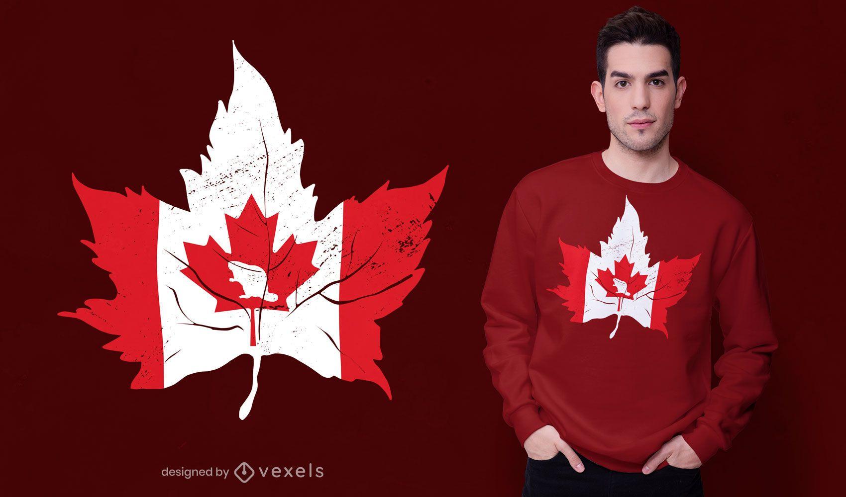 Canada maple leaf flag t-shirt design