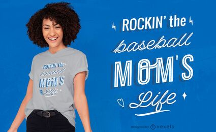Baseball mom quote t-shirt design