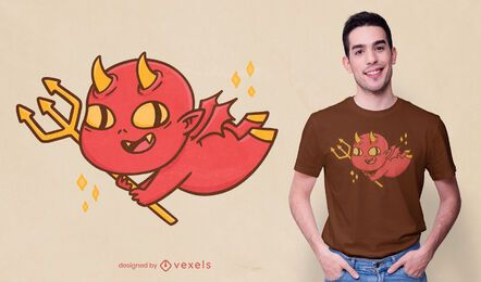 Baby devil cartoon t-shirt design