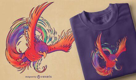 Colorful phoenix t-shirt design