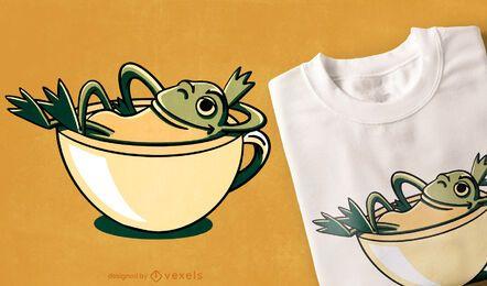 Diseño de camiseta de rana relajante.