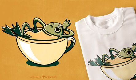Frog relaxing t-shirt design