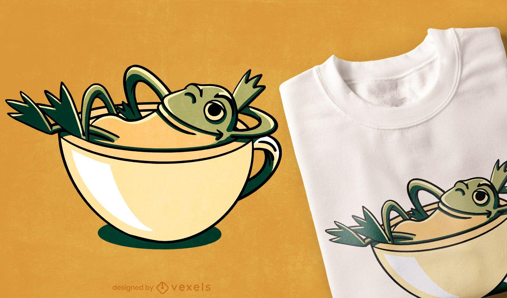 Frog relaxing t-shirt design