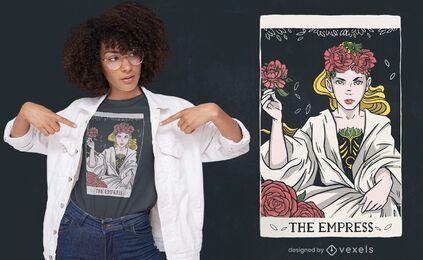 Diseño de camiseta emperatriz tarot card