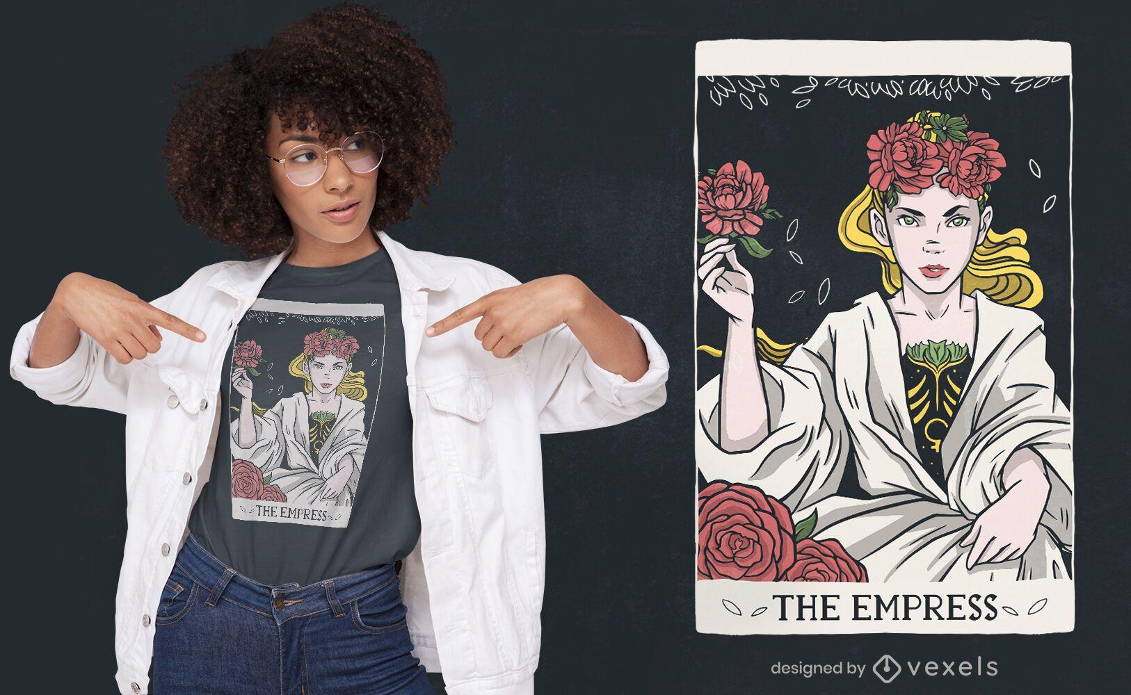 Kaiserin Tarotkarte T-Shirt Design