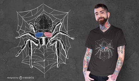 Diseño de camiseta de araña tarántula americana
