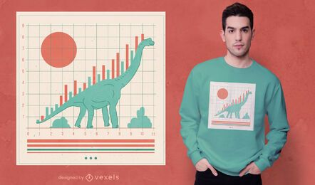 Dinosaur stock market graphic t-shirt design