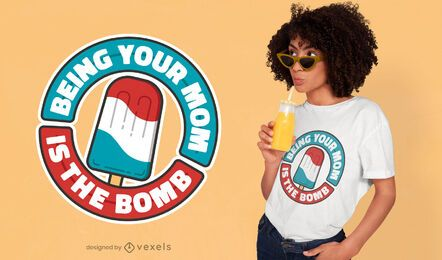 Diseño de camiseta de popsicle de cita de mamá orgullosa