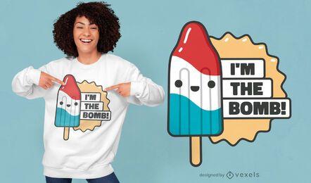 Im the bomb quote t-shirt design