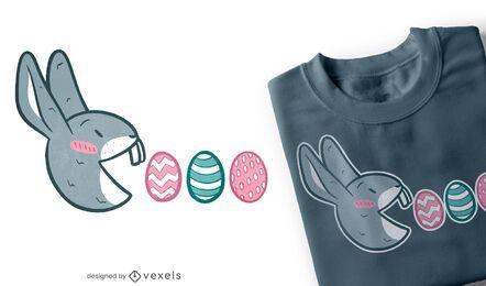 Design de t-shirt do coelho Pac Man
