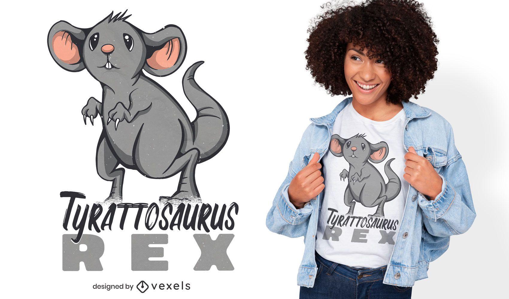 Dise?o de camiseta de rata t-rex