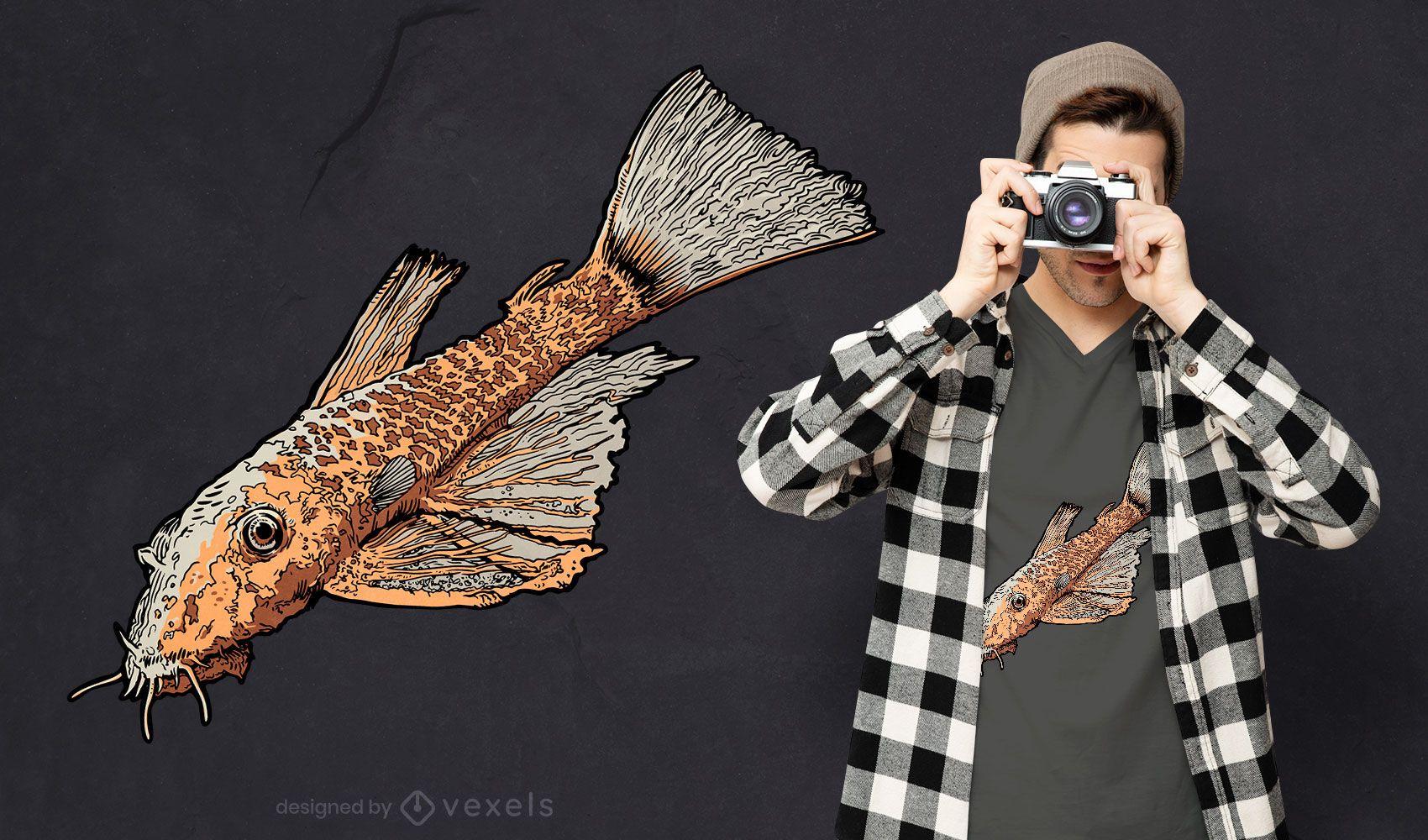 Catfish animal t-shirt design