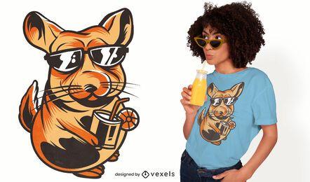 Diseño de camiseta Chill Chinchilla