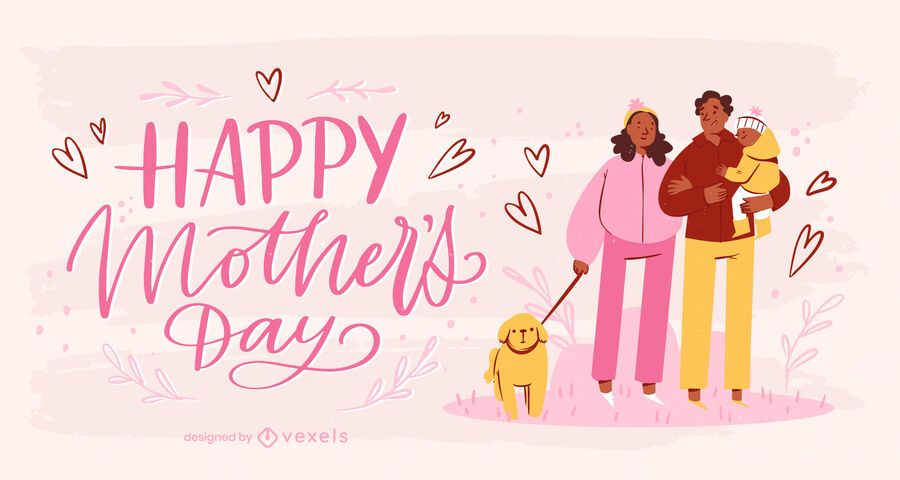 Family Mother's Day illustration
