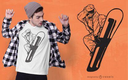 Snowboarder man t-shirt design