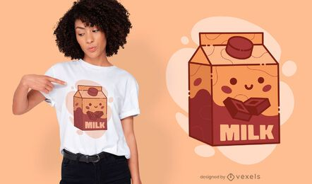 Cute chocolate milk t-shirt design
