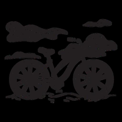 Bicicleta en la playa cortada