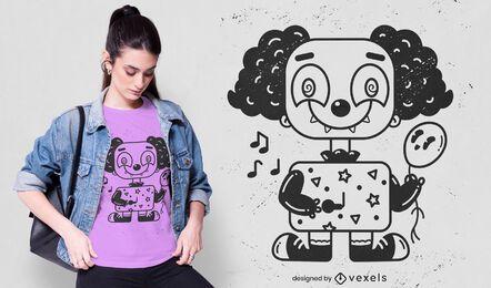 Diseño de camiseta de payaso lindo