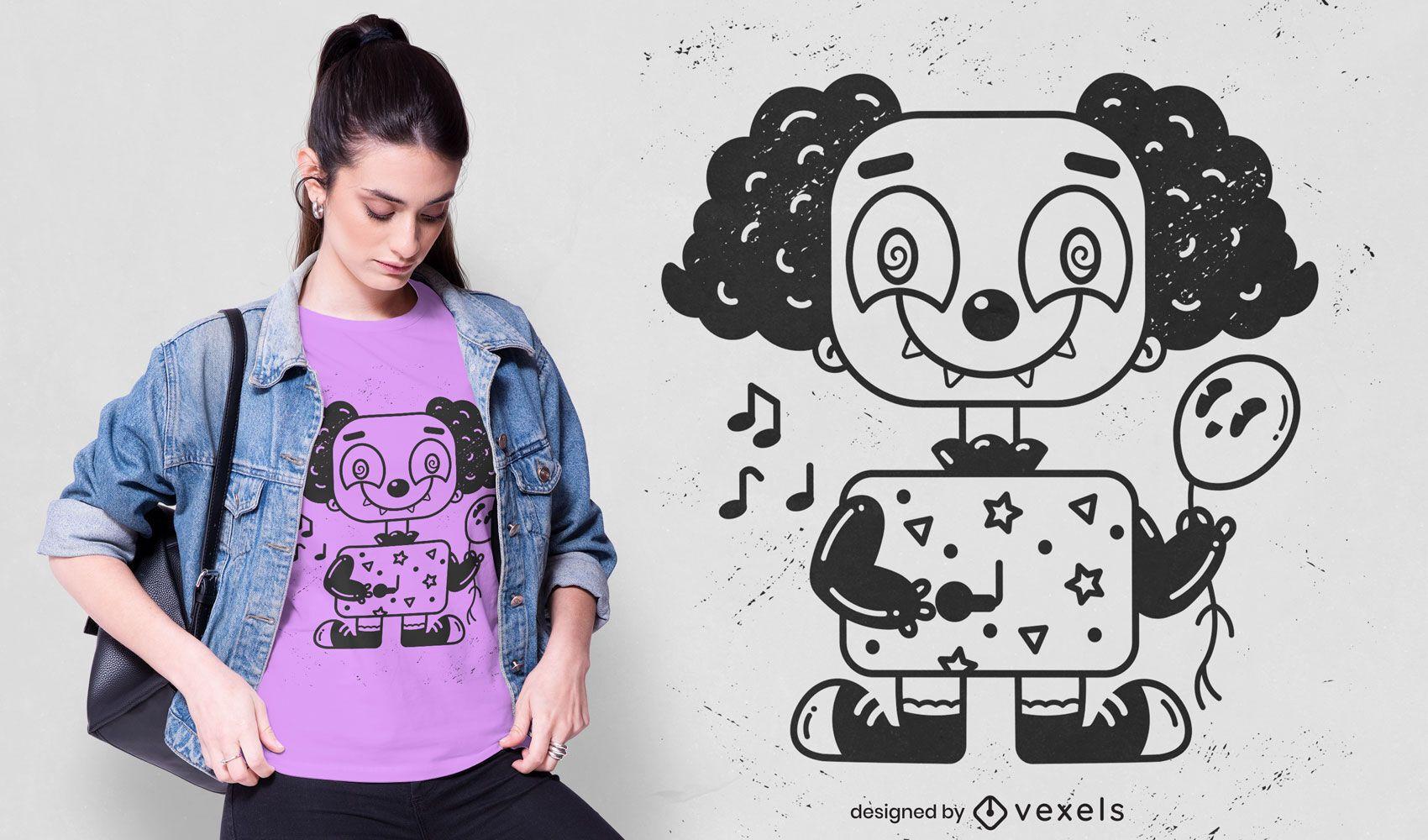 Cute clown t-shirt design