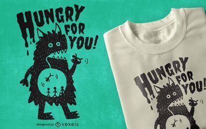 Hungry monster t-shirt design