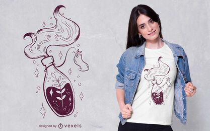 Floral magic potion t-shirt design