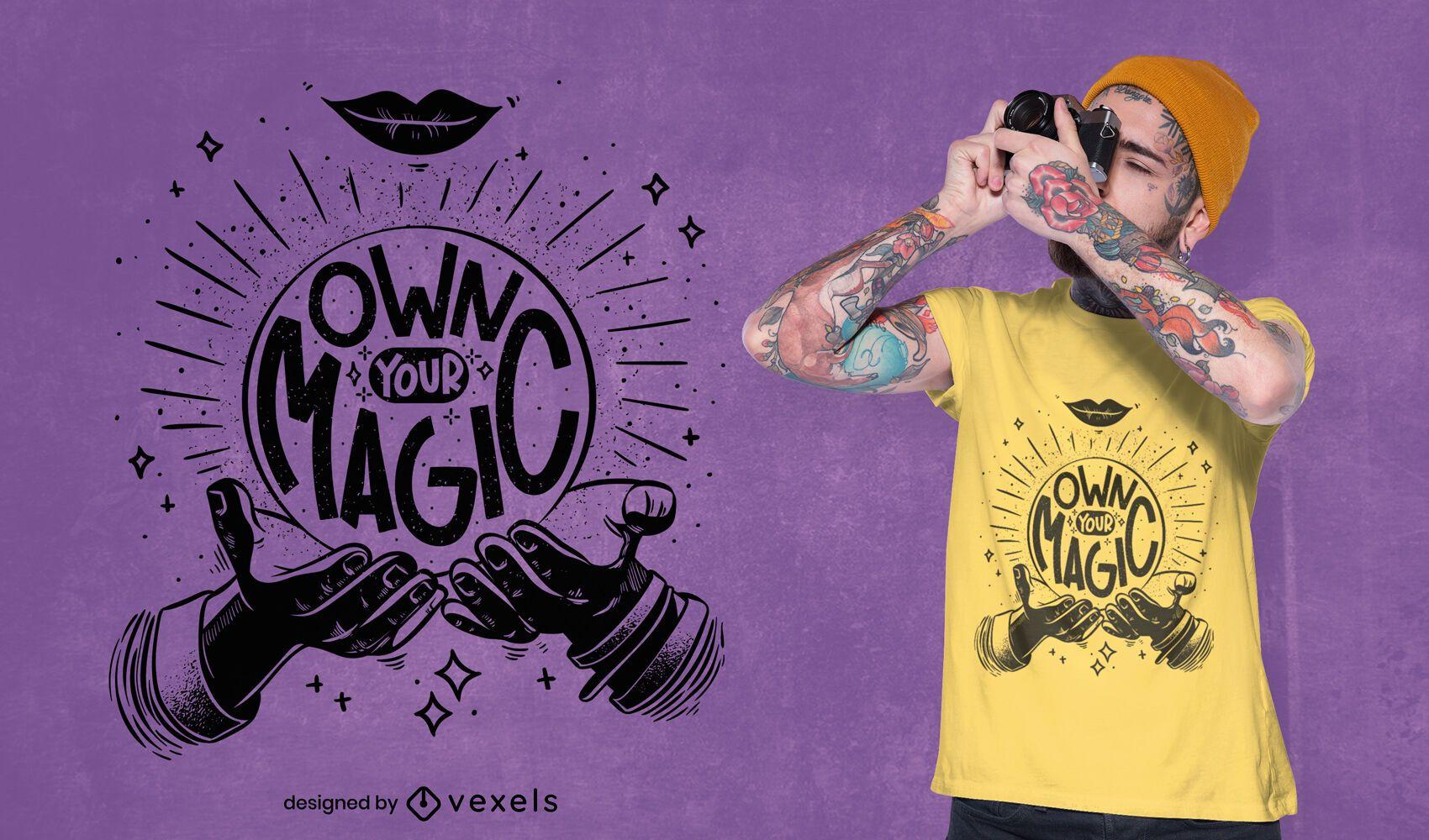 Crie seu design de camiseta com citação mágica