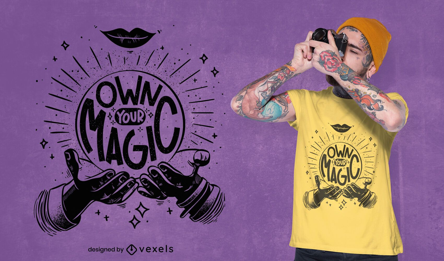 Own your magic quote t-shirt design