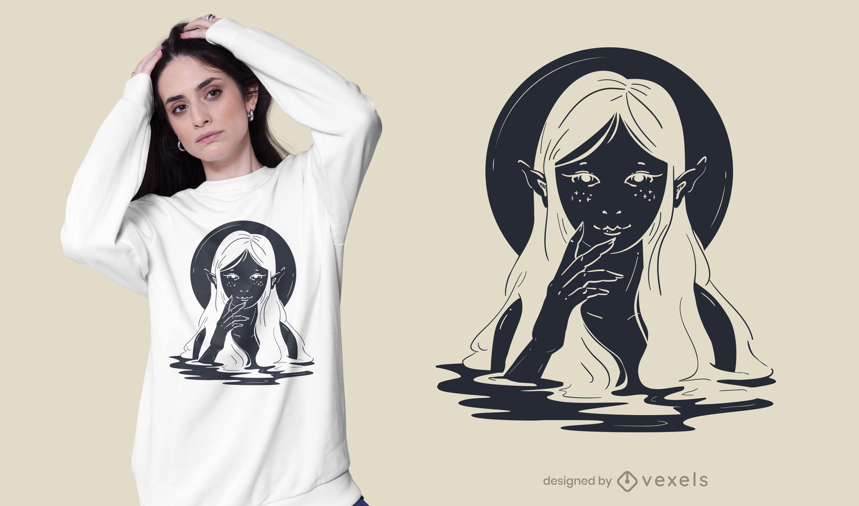 Design de camiseta de criatura aquática