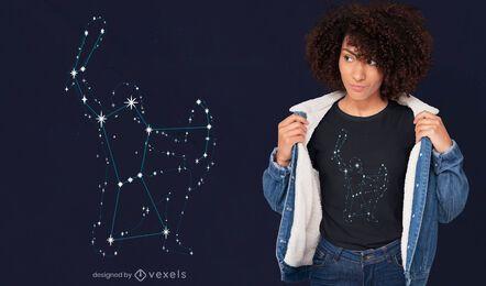 Diseño de camiseta del espacio de la constelación de Orión.