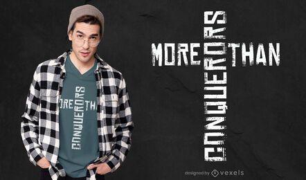 Diseño de camiseta más que conquistadores