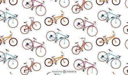Nahtloses Muster der bunten Fahrräder