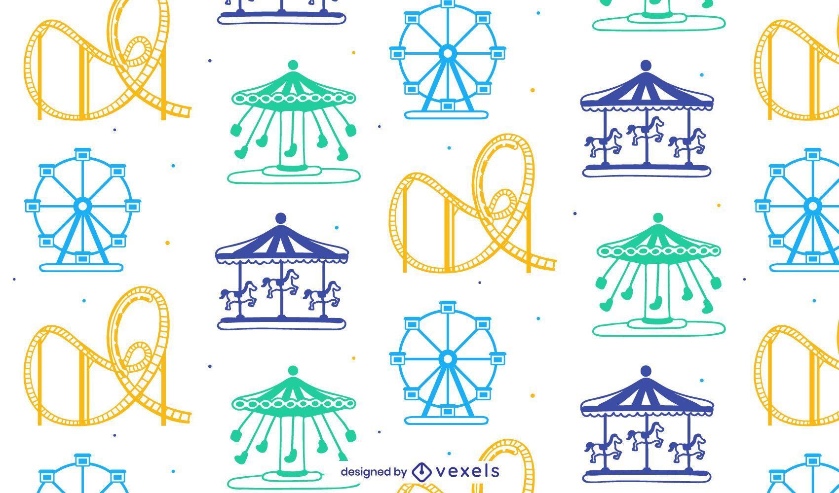Parque de atracciones de patrones sin fisuras