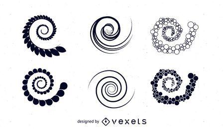 Conjunto de vetores de espiral